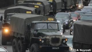Коновой из военных гузовиков в Москве