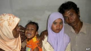 Meri Yulanda e sua família. | Foto: AP