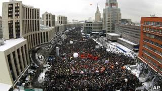 Митинг на проспекте Сахарова