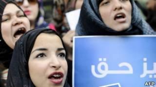 Участницы акций протеста в Египте