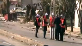 Arab league observers in Homs