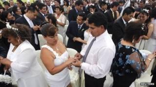 Групповое бракосочетание в Лиме
