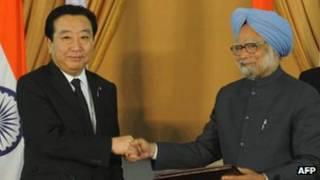 भारत और जापान के प्रधानमंत्री