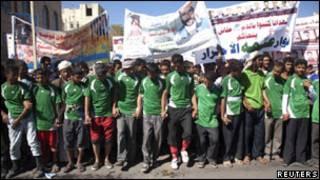 متظاهرون في اليمن ضد الرئيس