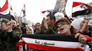 Демонстрация в Дамаске