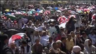 مظاهرة للمعارضة اليمنية