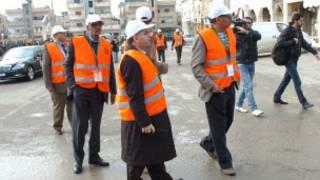 فريق من بعثة المراقبين العرب في سوريا