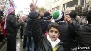 تظاهرات سوریه