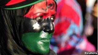 Женщина на митинге протеста в Ливии, (фото из архива)