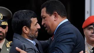 Chávez y Ahmadinejad