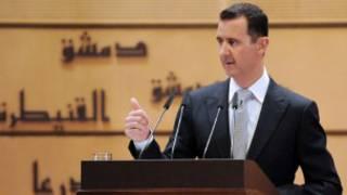 Tổng thống Assad phát biểu trên truyền hình Syria