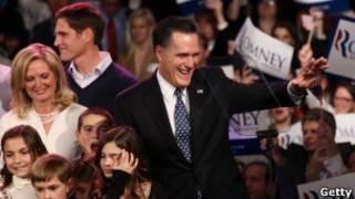 Mitt Romney e a a família. Getty