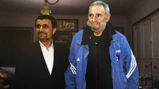 Fidel Castro y Mahmoud Ahmadinejad