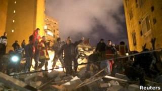 Обрушение здания в Бейруте