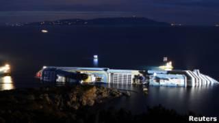 Costa Concordia. Foto AP