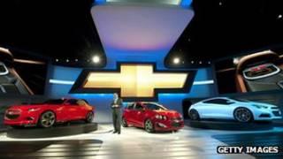نمایش اتومبیل های جنرال موتورز