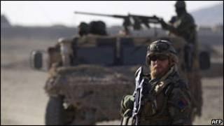سربازان افغان و ناتو در نزدیکی تگاب در کاپیسا