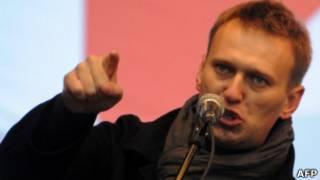 Алексей Навальный на митинге на проспекте Сахарова