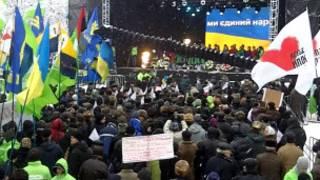 Мітинг опозиції у Києві на Софіївській площі