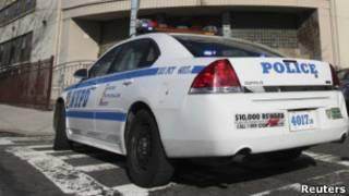 Машина полиции в Нью-Йорке