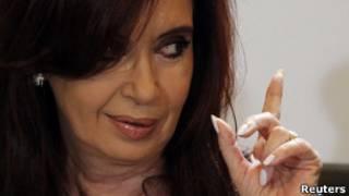 Cristina Kirchner, da Argentina. Reuters