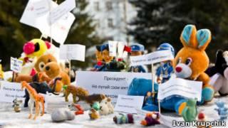 Muñecos en protesta