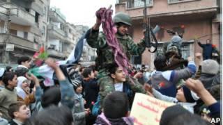 Dissidente sírio. AP