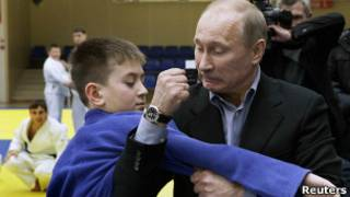 Путин на уроке дзюдо