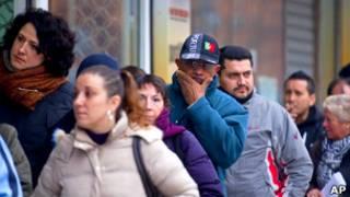 Безработные в Испании