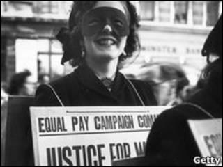 1952年爭取男女同工同酬的抗議者