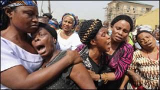 اهالي ضحايا تفجير قامت به بوكو حرام