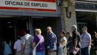 fila de emprego (Foto cedida pelo Instituo Nacional de Emprego da Espanha)do