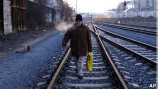 Morador de rua na Europa Foto: AP