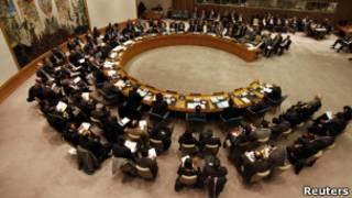 В зале заседаний Совета Безопасности ООН