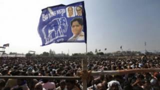 मायावती की रैली में भीड़
