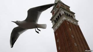 torre de la plaza de san marco, venezia, italia