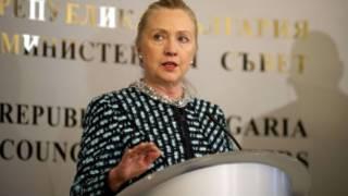 Ngoại trưởng Clinton lên án Nga tại Bulgaria