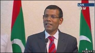 مالدیپ کے صدر محمد نشید