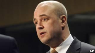 O primeiro-ministro da Suécia, Fredrik Reinfeldt (AP)