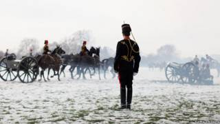 A soldier of the King」s Troop Royal Horse Artillery