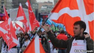 """Митинг движения """"Наши"""" 16 апреля 2011 года"""