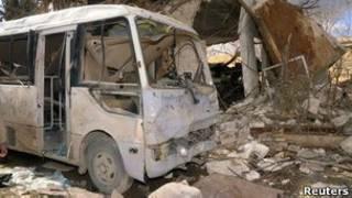 محل انفجار حلب