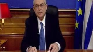 Thủ tướng Papademos nói chuyện với người dân trên truyền hình