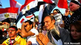Митинг в поддержку Временного военного совета в Каире 11 февраля 2012 года
