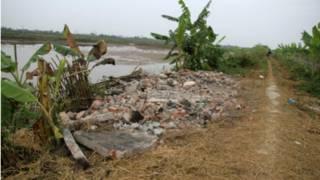 Đất đầm nhà ông Đoàn Văn Vươn (ảnh của VnExpress)