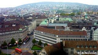 Вид Цюриха