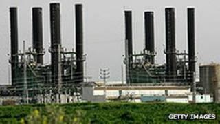 محطة توليد الكهرباء في غزة