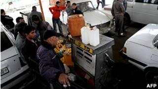 Бензозаправка в Рафахе
