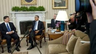 Ông Tập Cận Bình (trái) và ông Barack Obama