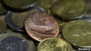 Греческие монеты евро